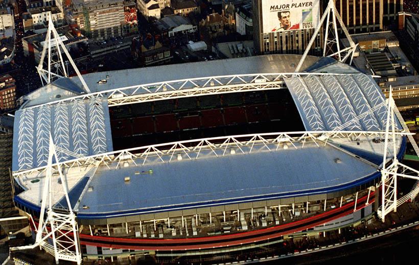 El Millennium Stadium de Cardiff, donde se jugará la final. (Foto compartida por ITV.com)