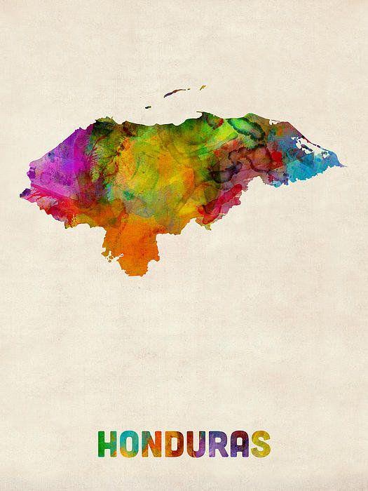 mapa honduras poster